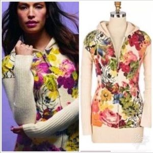 Moth for Anthropologie Floral Hothouse sweater